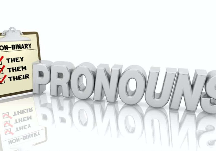Pronouns Gender Non-Binary They Their Them Checklist 3d Illustration